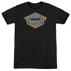 Night Ranger Logo Adult Heather Ringer