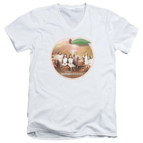 Little Women Atlanta Peach Pie Short Sleeve Adult V Neck T-Shirt