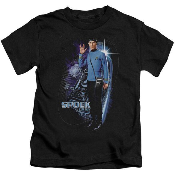 Star Trek Galactic Spock Short Sleeve Juvenile Black T-Shirt