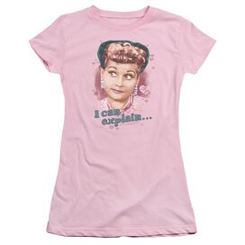 I Love Lucy I Can Explain Short Sleeve Junior Sheer T-Shirt