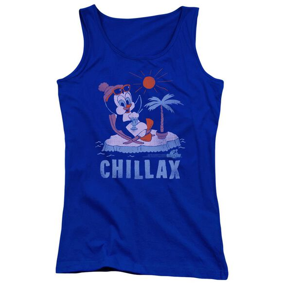 Chilly Willy Chillax Juniors Tank Top Royal