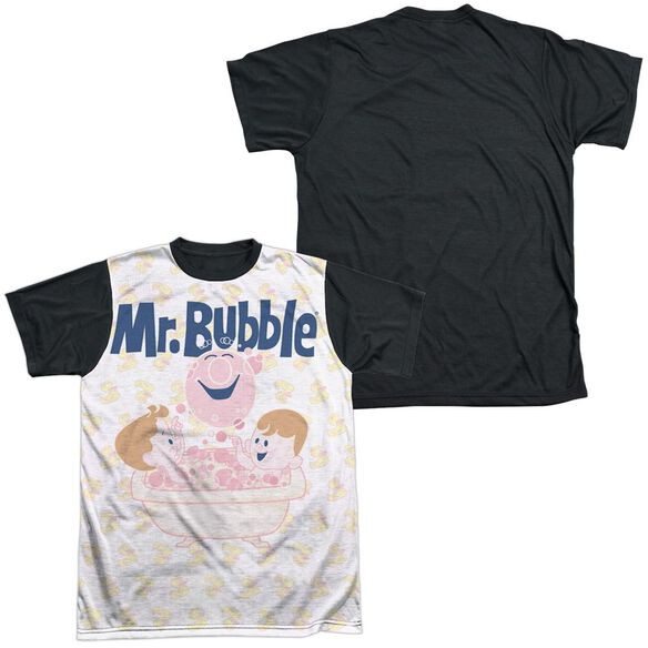 Mr Bubble Bath Buds Short Sleeve Adult Front Black Back T-Shirt