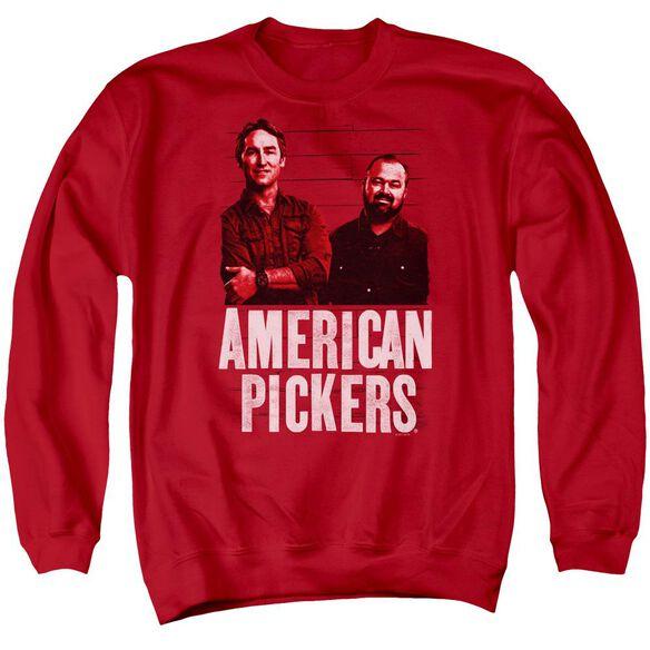American Pickers Picker Wood Pattern Adult Crewneck Sweatshirt
