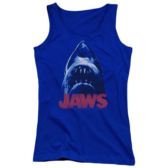 Jaws From Below Juniors Tank Top Royal