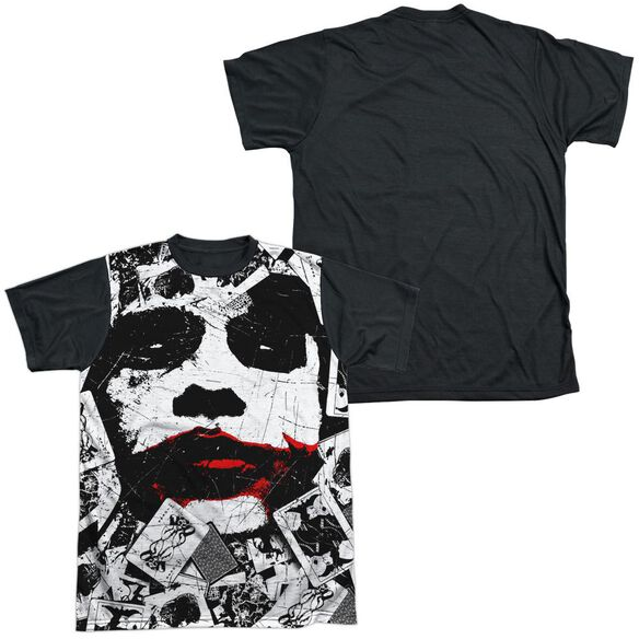 Dark Knight Joke Doe Short Sleeve Adult Front Black Back T-Shirt
