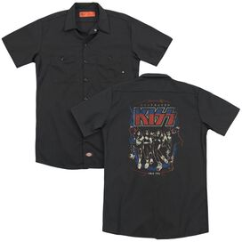 Kiss Destroyer(Back Print) Adult Work Shirt
