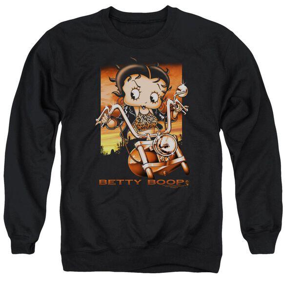 Betty Boop Sunset Rider Adult Crewneck Sweatshirt