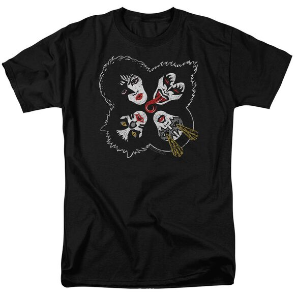 Kiss Rock And Roll Heads Short Sleeve Adult T-Shirt