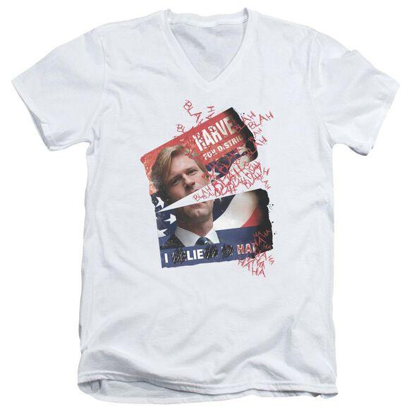 Dark Knight Defiled Campaign Poster Short Sleeve Adult V Neck T-Shirt