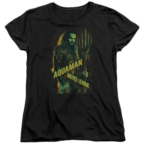 Justice League Movie Aquaman Short Sleeve Womens Tee T-Shirt
