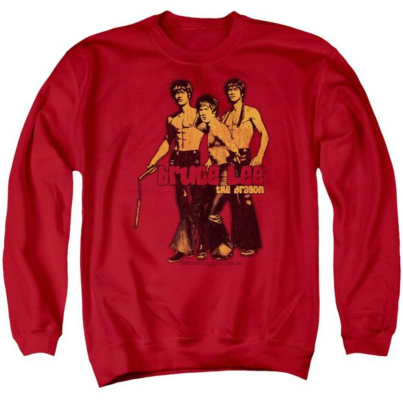 Bruce Lee Nunchucks Adult Crewneck Sweatshirt