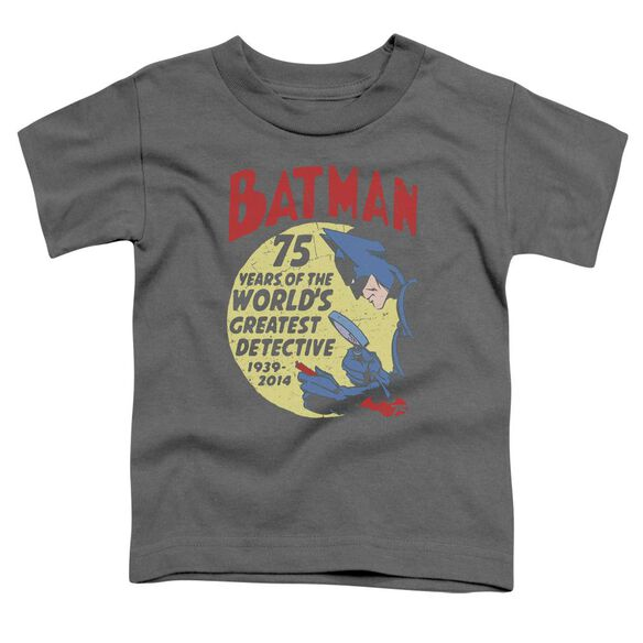 Batman Detective 75 Short Sleeve Toddler Tee Charcoal T-Shirt