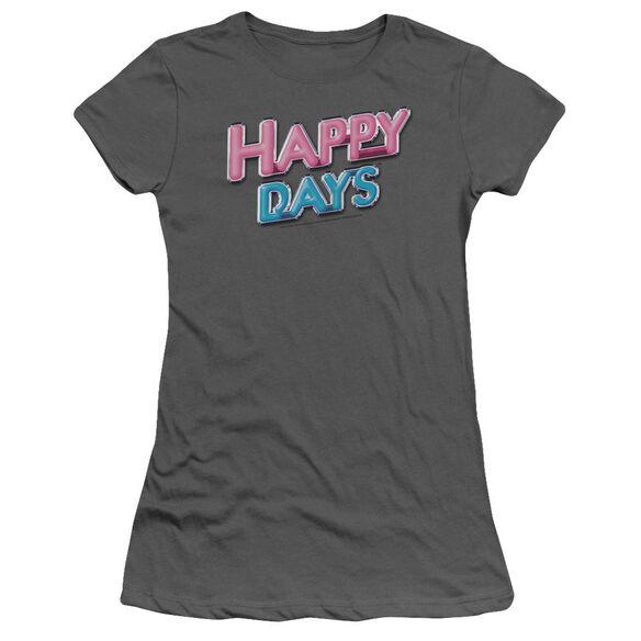 HAPPY DAYS HAPPY DAYS LOGO - S/S JUNIOR SHEER - CHARCOAL T-Shirt