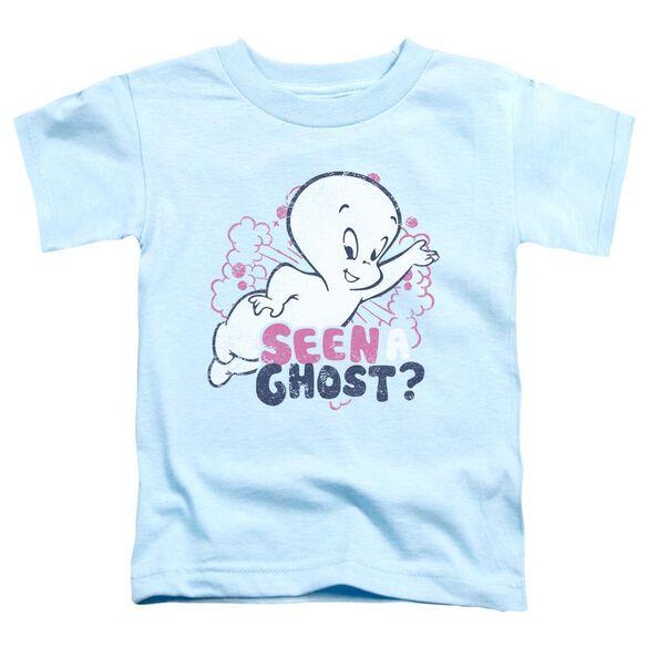 Casper Seen A Ghost Short Sleeve Toddler Tee Light Blue T-Shirt
