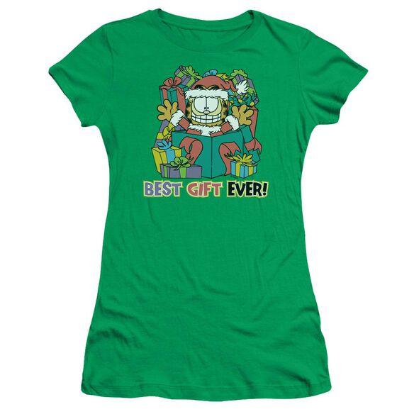 Garfield Best Gift Ever Short Sleeve Junior Sheer Kelly T-Shirt
