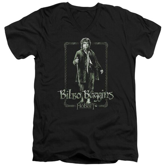 The Hobbit Bilbo Stare Short Sleeve Adult V Neck T-Shirt