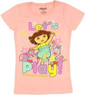 Dora the Explorer Lets Play Youth Girls T-Shirt