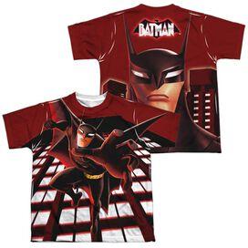 Beware The Batman City Protector (Front Back Print) Short Sleeve Youth Poly Crew T-Shirt