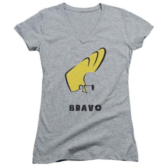 Johnny Bravo Johnny Hair Junior V Neck Athletic T-Shirt