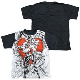 Zenoscope Bw Heart Short Sleeve Youth Front Black Back T-Shirt