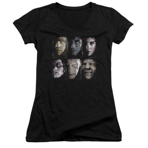 Harry Potter Horizontal Heads Junior V Neck T-Shirt