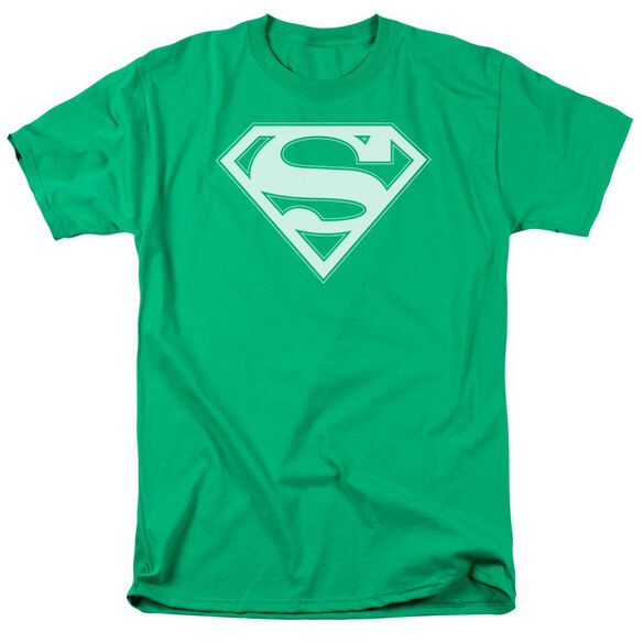 Superman & White Shield Short Sleeve Adult Kelly T-Shirt