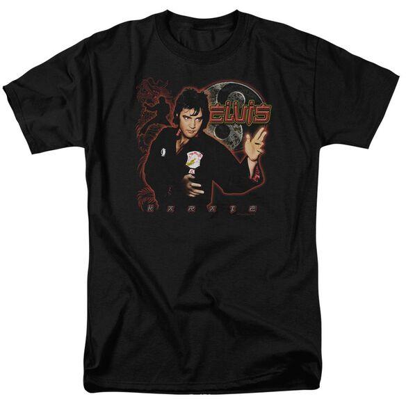Elvis Karate Short Sleeve Adult T-Shirt