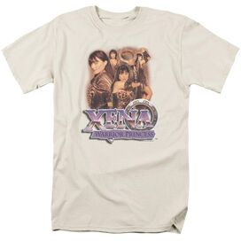 Xena Princess Collage Short Sleeve Adult Cream T-Shirt