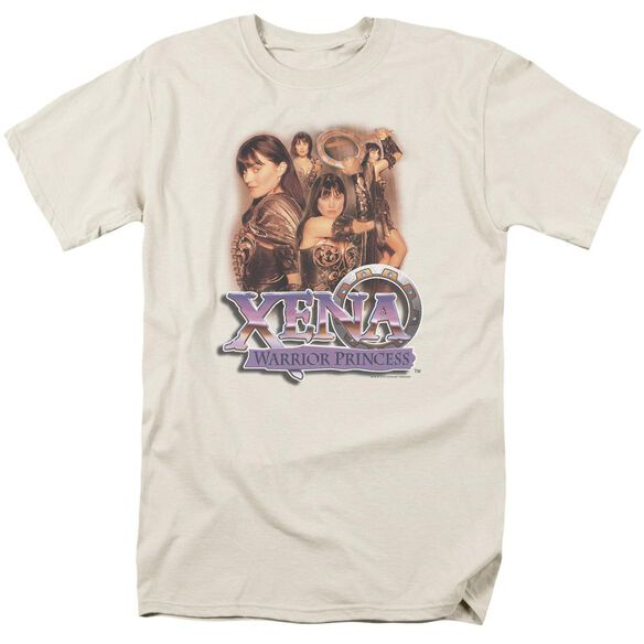 Xena Princess Collage Short Sleeve Adult Cream T-Shirt