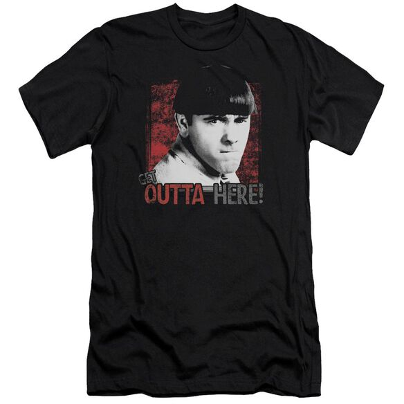 Three Stooges Get Outta Here Premuim Canvas Adult Slim Fit