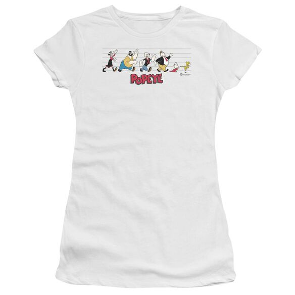 Popeye The Usual Suspects Premium Bella Junior Sheer Jersey