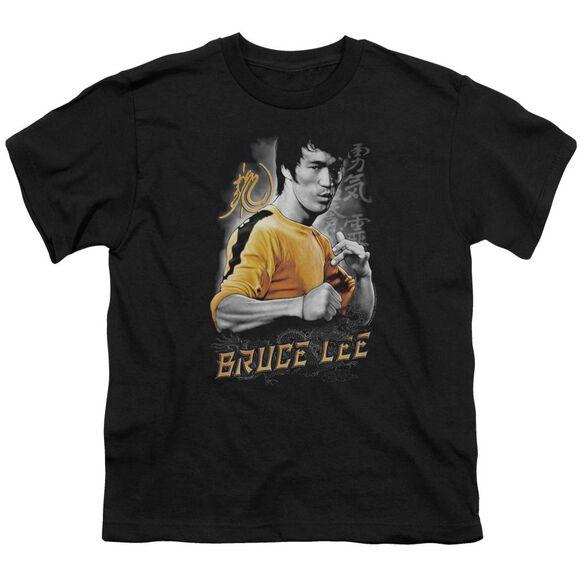 Bruce Lee Yellow Dragon Short Sleeve Youth T-Shirt