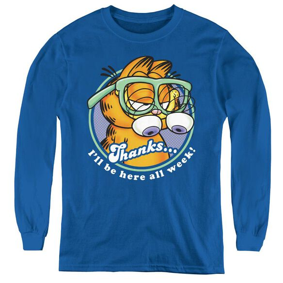 Garfield Performing - Youth Long Sleeve Tee - Royal Blue