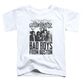 Aerosmith Bad Boys Short Sleeve Toddler Tee White T-Shirt