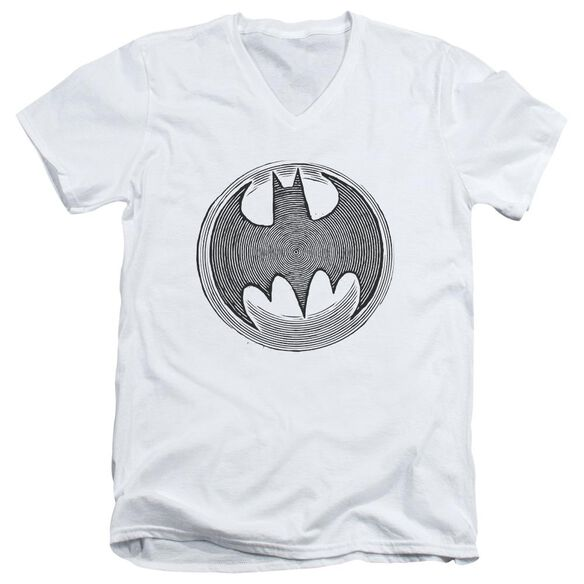 Batman Knight Knockout Short Sleeve Adult V Neck T-Shirt
