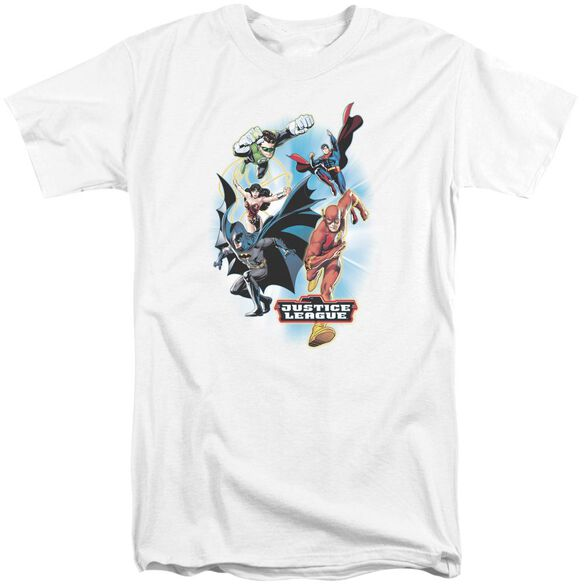 Jla At Your Service Short Sleeve Adult Tall T-Shirt