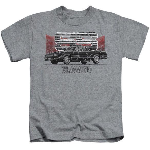 Chevrolet El Camino Ss Mountains Short Sleeve Juvenile Athletic T-Shirt