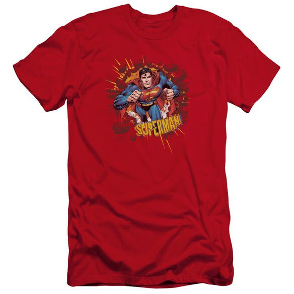 Superman Sorry About The Wall Premuim Canvas Adult Slim Fit