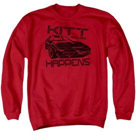 Knight Rider Kitt Happens - Adult Crewneck Sweatshirt - Red