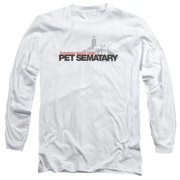 Pet Sematary Logo Long Sleeve Adult T-Shirt