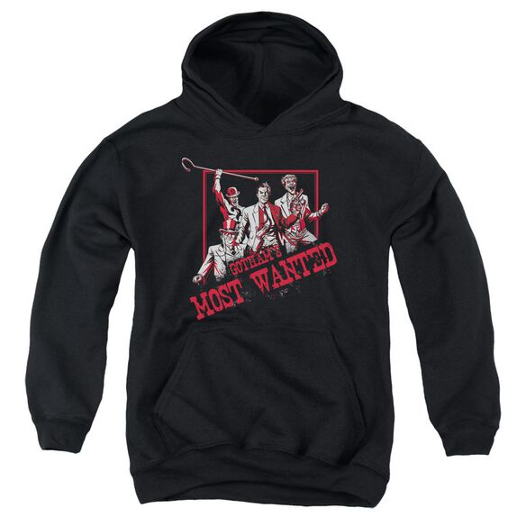 Batman Gotham's Most Wanted Youth Pull Over Hoodie