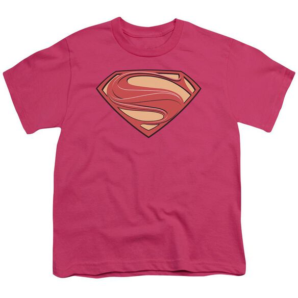 Man Of Steel New Solid Shield Short Sleeve Youth Hot T-Shirt