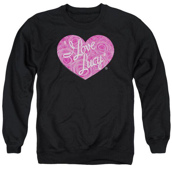 I Love Lucy Floral Logo Adult Crewneck Sweatshirt