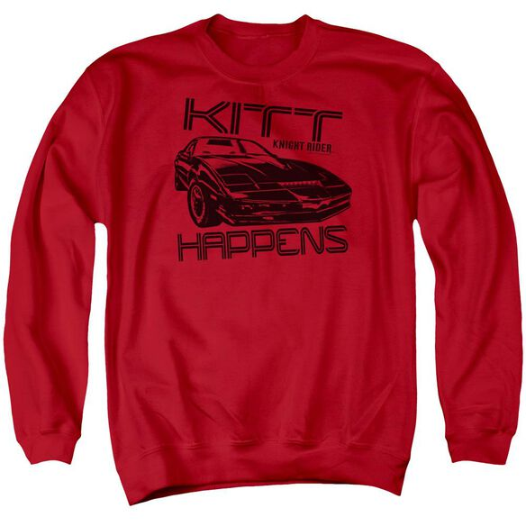 Knight Rider Kitt Happens Adult Crewneck Sweatshirt