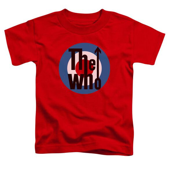 The Who Logo Short Sleeve Toddler Tee Red T-Shirt