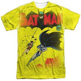 Dc Batman Number One Short Sleeve Adult 100% Poly Crew T-Shirt