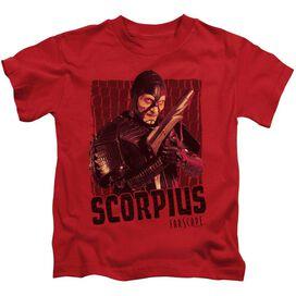Farscape Scorpius Short Sleeve Juvenile Red T-Shirt