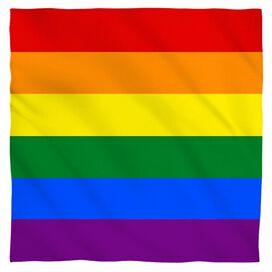 Pride Flag Bandana White