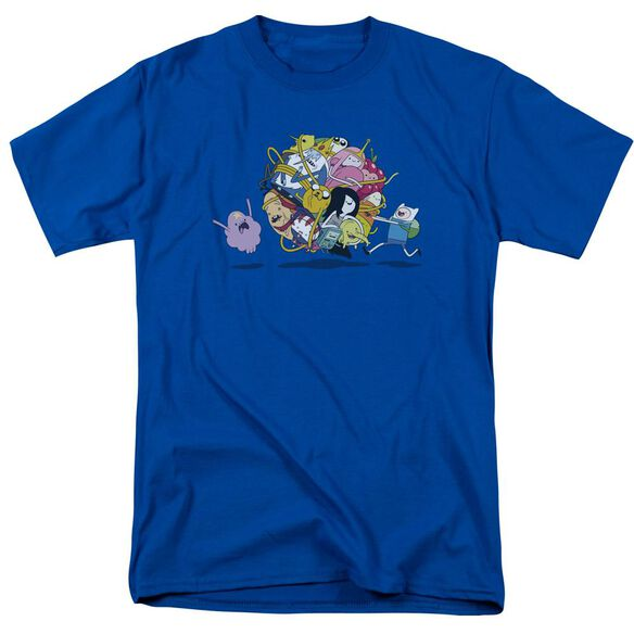 Adventure Time Glob Ball Short Sleeve Adult Royal T-Shirt