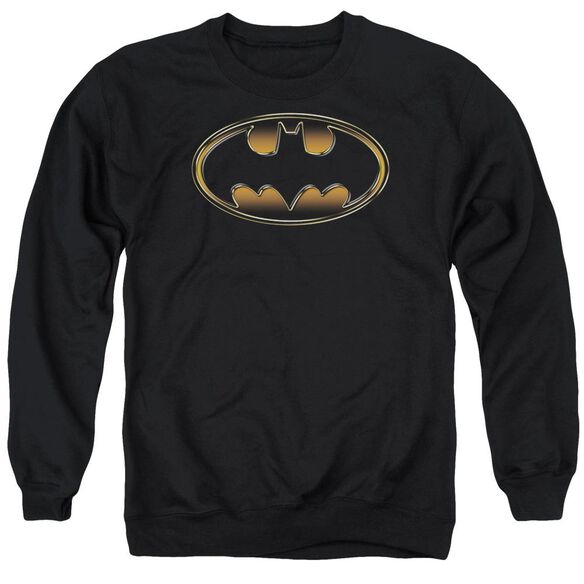 Batman & Gold Embossed Adult Crewneck Sweatshirt